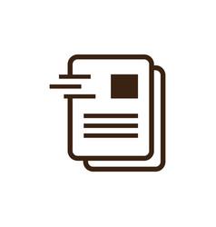Document office icon logo vector