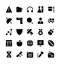 Education Solid Icons 5 vector