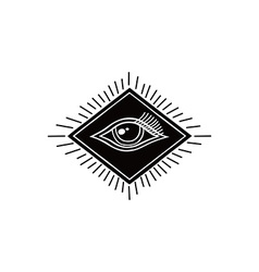 eye symbol theme vector image