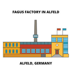 fagus factory in alfeld alfeld germany line icon vector image