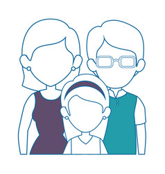 Family with kids icon vector