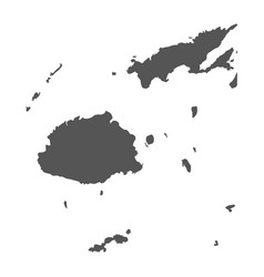 Fiji map black icon on white background vector