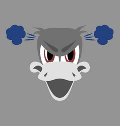 flat icon on theme animal evil duck vector image