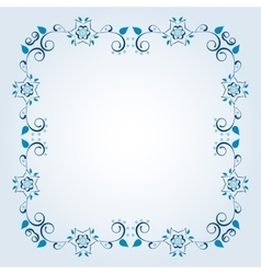 Frame with floral elements vector