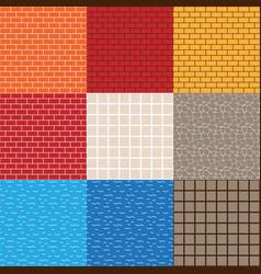 Game asset seamless patterns vector