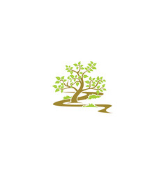 garden tree logo icon vector image
