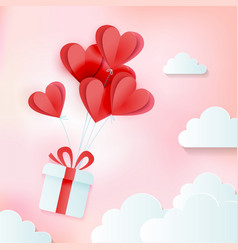 greeting card love and valentine s day vector image