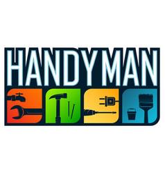 Handyman repair and service symbol vector