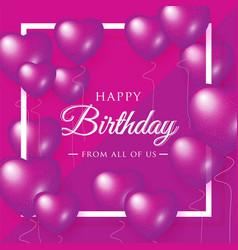 happy birthday celebration typography design for vector image