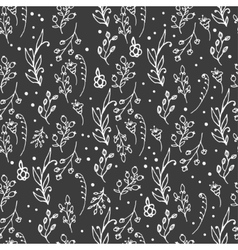 Herbal seamless pattern Herbs and wild flowers vector image