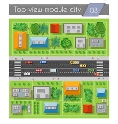 Highway road section vector