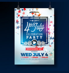 independence day of the usa party flyer vector image