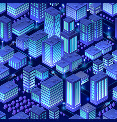 isometric background city urban vector image