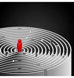 Labyrinth black vector image