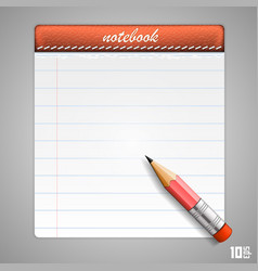 leather notepad vector image