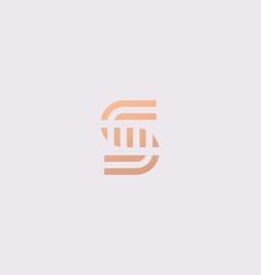 letter s line logo design creative vector image
