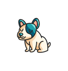 little cartoon french bulldog vector image