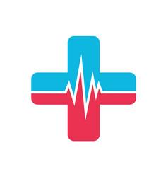 Medical heart logo icon vector