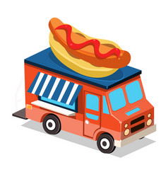 mobile food van vector image