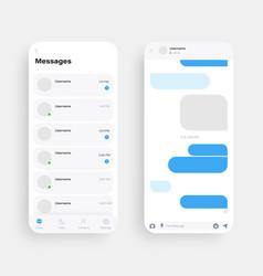 Mobile ui kit messenger vector