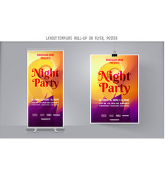 modern abstract party flyer vector image