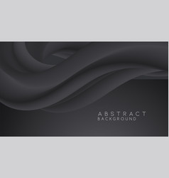 modern black abstract design background flow vector image