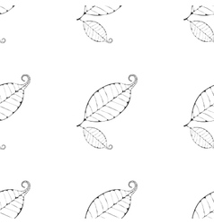 Monochrome leaves background vector