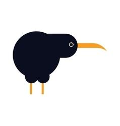 North island brown kiwi bird cartoon flat vector