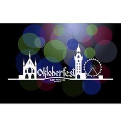 Oktoberfest card with Munich landscape an vector