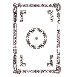 old typography floral frame vector image