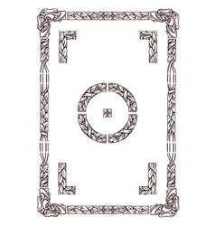 Old typographyc floral frame vector