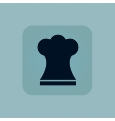 Pale blue chef hat icon vector image