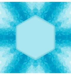 polygonal blue background vector image