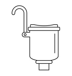 Pool skimmer icon outline style vector