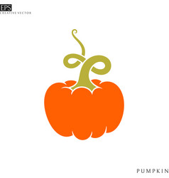pumpkin logo vector image