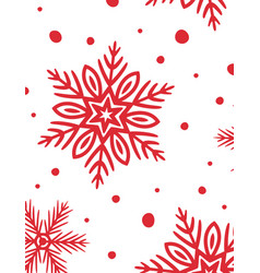 rectangular background with hand drawn snowflakes vector image
