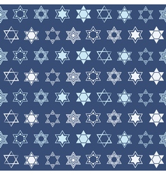 Seamless pattern with star of David traditional J vector