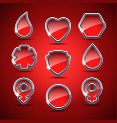 Set of the medical icons vector