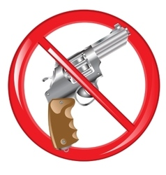 Sign prohibiting weapon vector