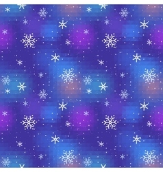 Snowy Night Seamless vector image
