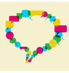 Social media network idea vector image
