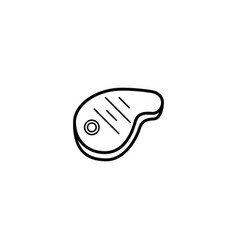 steak food icon vector image