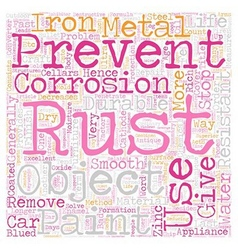 Stop Rust text background wordcloud concept vector