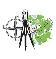symbol for geodesy and cartography vector image