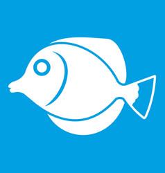 tang fish zebrasoma flavescens icon white vector image