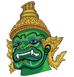 thai demon green vector image