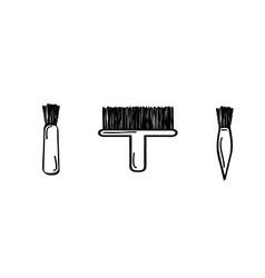 Three brushes vector