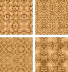 Tiled mosaic floor design set vector