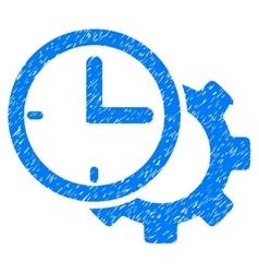 Time setup gear grainy texture icon vector