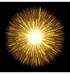 Transparent light flare firework effect Isolated vector image